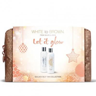 LET IT GLOW - Whitetobrown Golden Self Tan Kerst Giftset